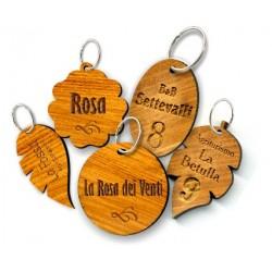 Portachiavi in legno