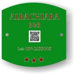 Targa con QR Code
