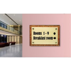 Targhe indicatrici per albergo