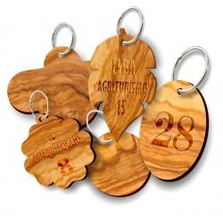 Portachiavi in legno d'ulivo