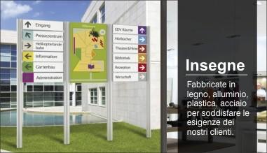 Targhe personalizzabili per ufficio per interni ed esterni