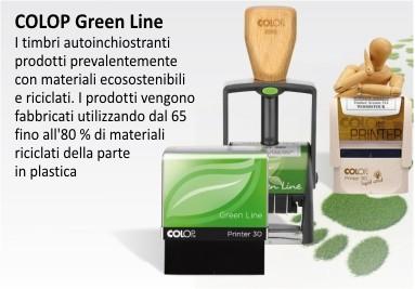 COLOP Green Line I timbri autoinchiostranti  prodotti  con materiali ecosostenibili  e riciclati.